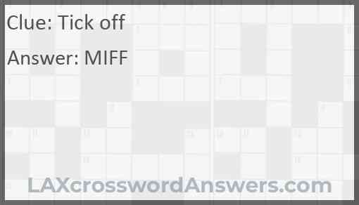 Tick off Answer