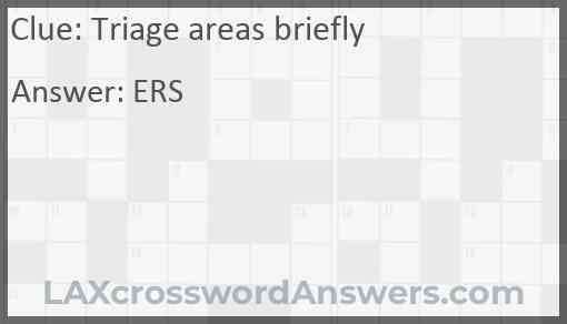 Triage areas briefly Answer