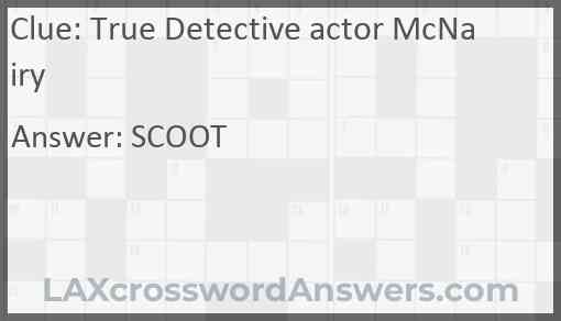 True Detective actor McNairy Answer