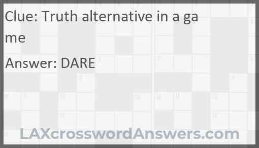Truth alternative in a game Answer