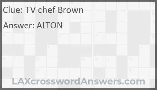 TV chef Brown Answer
