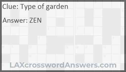 Type of garden Answer