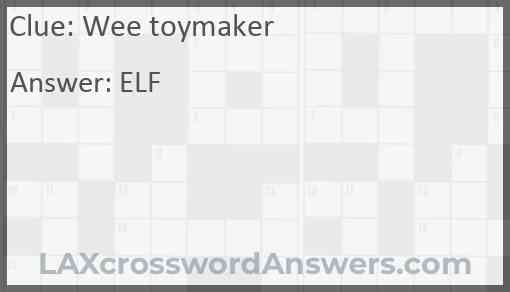 Wee toymaker Answer