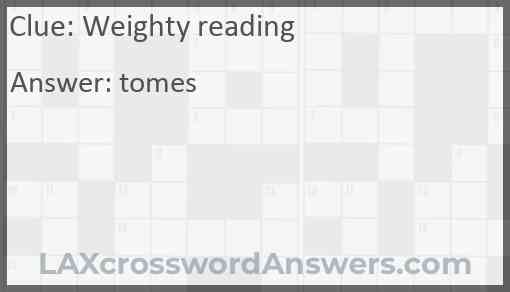 Weighty reading Answer