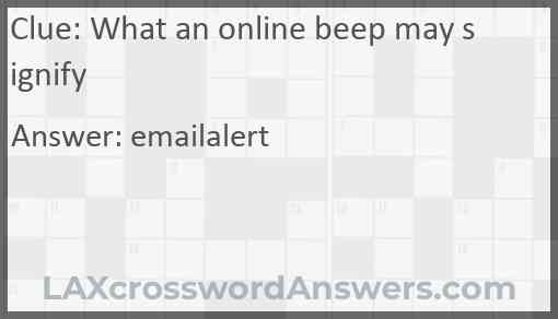 What an online beep may signify Answer