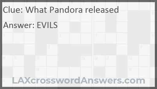 What Pandora released Answer
