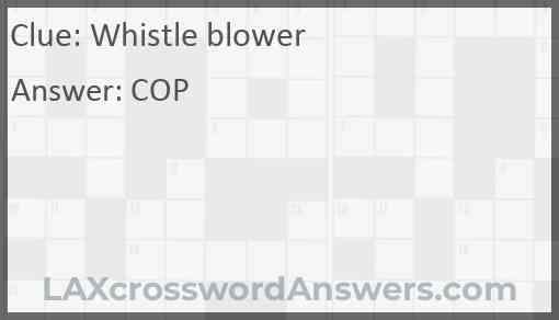Whistle blower Answer