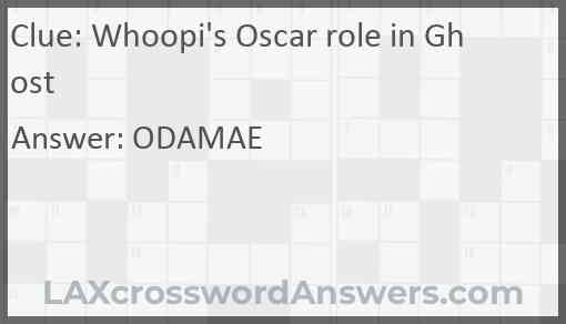 Whoopi's Oscar role in Ghost Answer