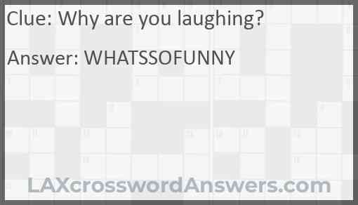 Why are you laughing? Answer