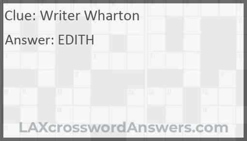 Writer Wharton Answer