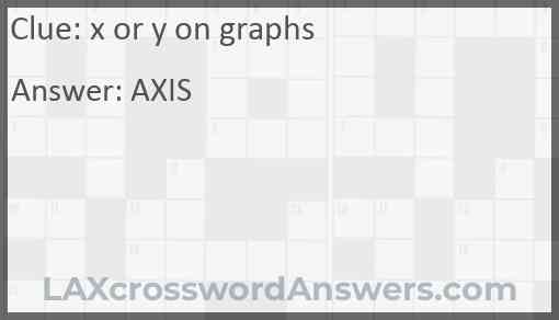 x or y on graphs Answer