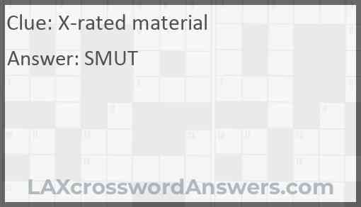 X-rated material Answer