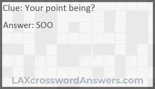 Your point being? Answer